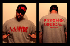Mr. Hyde - Psycho Logical Records Vintage Red Logo on Gray Shirt - $19.99