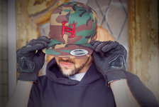 Mr. Hyde - Limited Edition Machine Gun H Logo Snapback Hat Red on Camo - $29.99